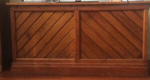 Rare solid Australian hardwood antique shop counter made 1886 Moonee Ponds Moonee Valley Preview