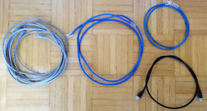 Assorted Cat 5 Ethernet Cables $5-$15/OBO