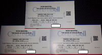3x IRON MAIDEN RED TICKETS MONTREAL BELL CENTRE 116-DD-EE