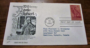 TWO 1965 Dante Aligheri 5 Cent First Day Covers Kitchener / Waterloo Kitchener Area image 7