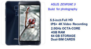 ASUS ZenFone 3 5.5'' iPS 4K 2.0ghz Octa-Core 4GB, 64GB new /box