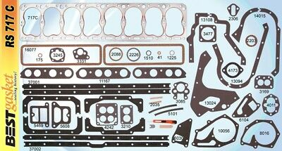PACKARD 1940 -1950  356 C.I. STRAIGHT 8  COMPLETE ENGINE GASKET SET  MADE IN USA for sale  De Leon