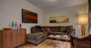 Downtown furnished 2 bedroom apartment for April