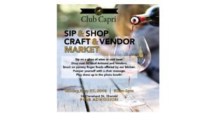 Sip & Shop Craft & Vendor Market