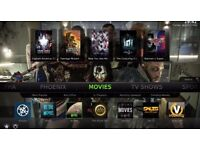 Android box fully loaded + 12 months free after care