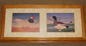 Light Sussex Hen & The Duck Framed Print by M.Wiscombe Country
