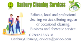 Domestic & Commercial Cleaning Around Banbury