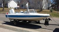 Aqua sport boat 14ft with 70hp motor