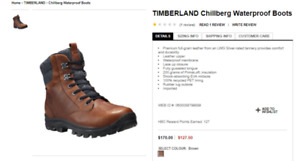 TIMBERLAND Chillberg Waterproof Boots GREAT DEAL