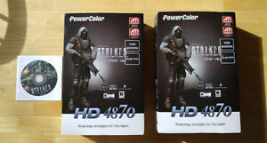TWO AMD Radeon Powercolor HD 4870 (Stalker Game + Crossfire)
