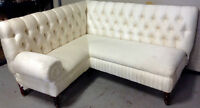 062: Custom Made Upholstered Banquette Sofa Bench