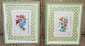 Flowers, framed, 2