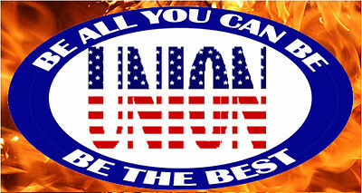 Union Be All You Can Be Tool Box Sticker Cool Sticker Cu-14