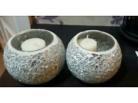 2 x candle holders