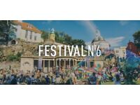 2x Festival No. 6 tickets   6-10 Sep 2018   Thursday arrival   Weekend camping   Park & Ride pass