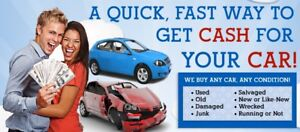 Top dollar for scarp cars $$$ fast cash $$& sell your junk car $