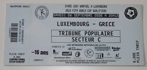 old TICKET World Cup 2010 * Luxembourg - Greece - <span itemprop=availableAtOrFrom>Poznan, Polska</span> - old TICKET World Cup 2010 * Luxembourg - Greece - Poznan, Polska