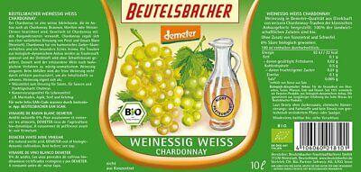 Beutelsbacher Bio Weinessig weiss (1 x 10 l)