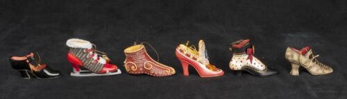 Stepping in Time Ashton Drake Heirloom Shoe Boot Ornaments Christmas Lot