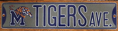 Tigers Sign - Street Sign Tigers Ct NCAA Lic.colorful picture University of Memphis College