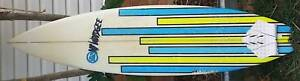 """Mt Woodgee Surfboard 5'10 x 17 3/4"""" x 2 1/8"""" Exc cond"""