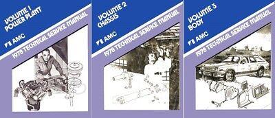 1978 AMC Service Shop Repair Manual Book Engine Drivetrain Electrical Guide OEM