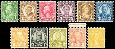 632//42, Mint NH With Four Gum Breakers on Each Stamp RARE SET - Stuart Katz