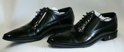 BNIB VERSACE COLLECTION SPAZZOLATO  LEATHER CAP TOE DRESS SHOES MEN'S SIZE 7/ 40