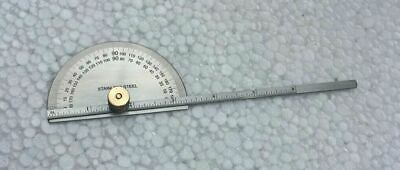 Stainless Steel 0 - 180 Degree Round Head Protractor Cum Depth Gauge