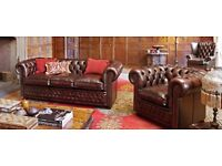 Chemrock 3 and 2 seat leather sofa set