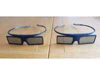 2 Genuine Samsung SSG-4100GB Battery Operated Active 3D Glasses