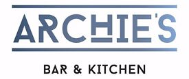 Part Time Kitchen Porter Required for Archies Bar & Kitchen, Leeds City Centre