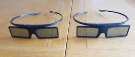 2 Genuine Samsung SSG-4100GB Battery Operated Active 3D Glasses.