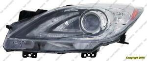 Head Light Driver Side Without Auto Level Control Without Drl HID High Quality Mazda 3 2010-2011