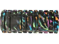 Yoga Muscle Massage Grid Foam Roller - Black + Color