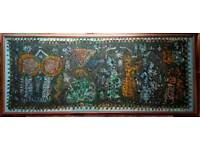 African Tapestry Wall Mural 6ft 8in Wide