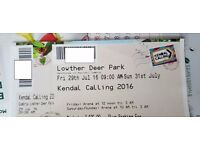 Kendal Calling Ticket 2016 Adult Full Weekend with Camping
