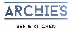 CHEF DE PARTIE - ARCHIES BAR & KITCHEN, GRANARY WHARF, LEEDS