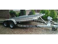 """BRIAN JAMES TWIN AXLE TILT BED RECOVERY CAR TRAILER ( 14' X 6'3"""" BED ) WITH WINCH"""
