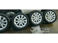 4 x Genuine mercedes alloys with tyres