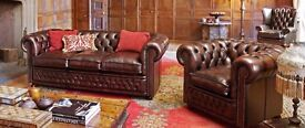Chesterfield 3+2 seat sofas
