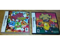 2 X NINTENDO DS GAMES, BUBBLE BOBBLE DOUBLE SHOT AND NEW ZEALAND STORY REVOLUTION