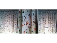 Handmade Embroiderd Silk Curtains with Pelmets