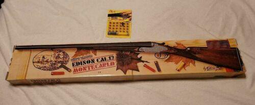 Vintage Edison Giocattoli Toy Ref. 380 Double Barrel Cap Gun Cal 12 Montecarlo