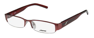 NEW STING 4774 MODERN ADULTS SPECIAL HALF-RIMLESS EYEGLASS FRAME/GLASSES/EYEWEAR](Red Glasses Frames)