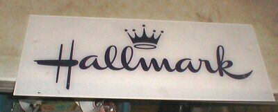 Hallmark Crown Retail Mall Store Acrylic Logo Store Sign 22 X 9