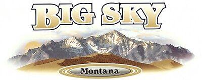 1 RV TRAILER CAMPER MONTANA BIG SKY GRAPHIC DECAL -54