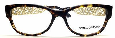 Dolce & Gabbana Italy GOLD  FILIGRANA  TORTOISE 55mm Eyeglasses Frame 3185 502