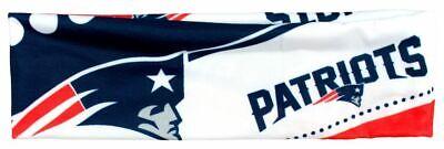 New England Patriots Satin Stretch Headband Womens Ladies NFL Team Apparel
