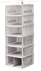 Hanging storage with 7 compartments